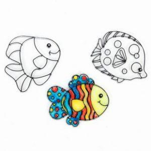 小魚兒玻璃畫吊飾